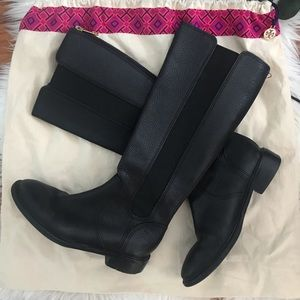 Tory Burch black leather boots w/ new dust bag